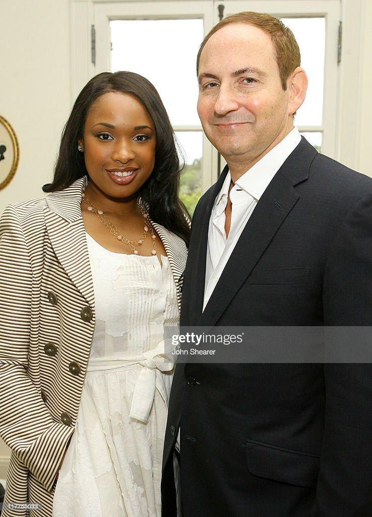 Jennifer Hudson and John Demsey global president of MAC cosmetics
