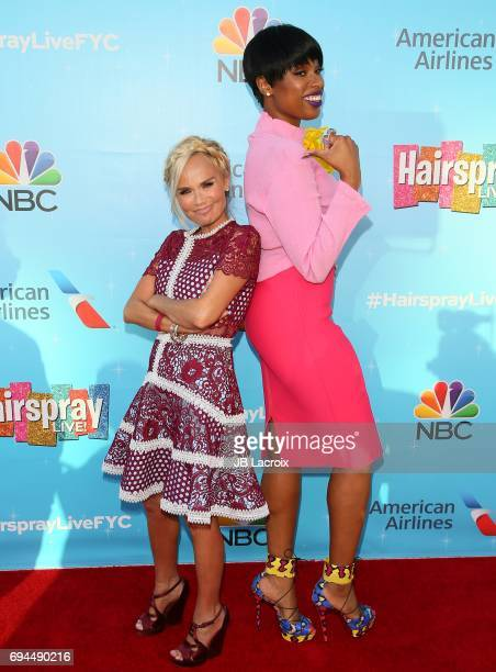 Jennifer Hudson and Kristin Chenoweth attend NBC's 'Hairspray Live' FYC event on June 09 2017 in North Hollywood California