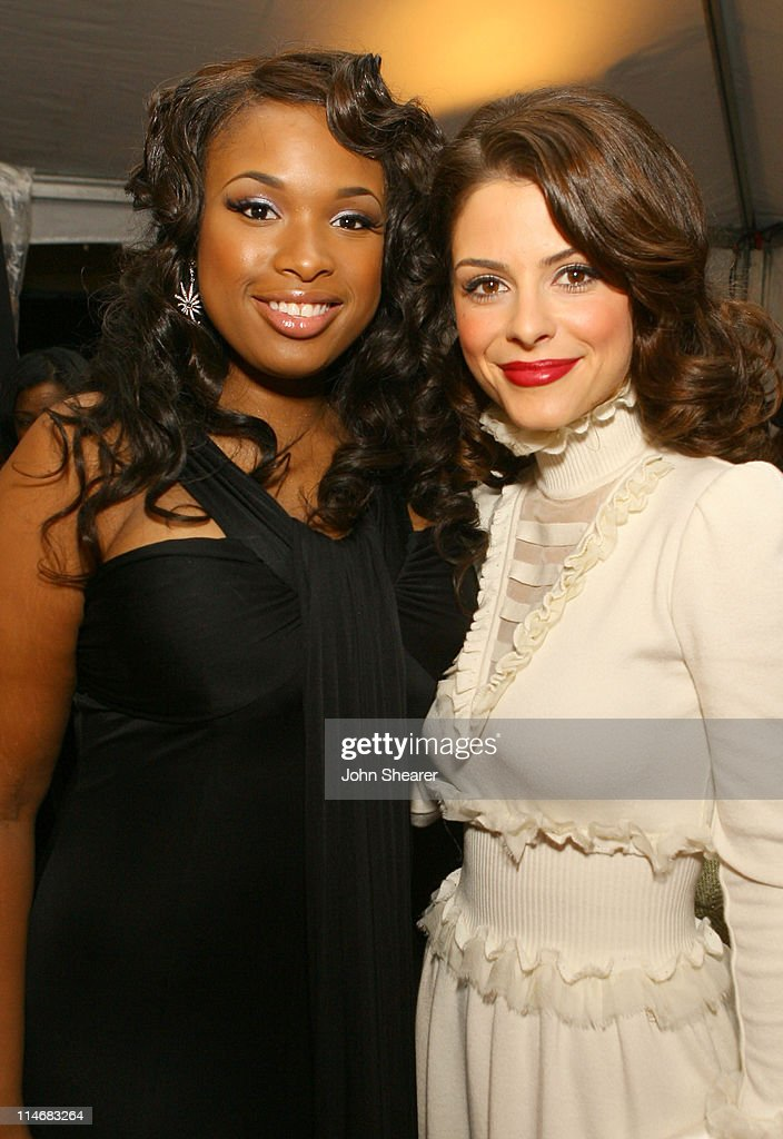 Jennifer Hudson and Maria Menounos during 2007 GM Style - Backstage at GM Pavilion in Detroit, Michigan, United States.