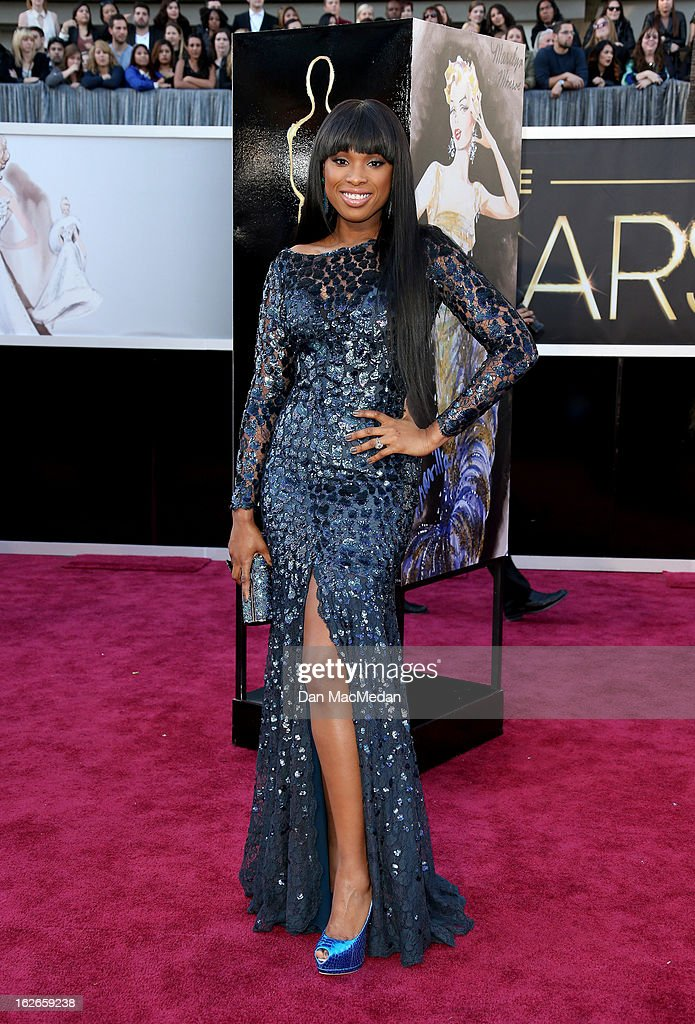 Jennifer Hudson arrives at the 85th Annual Academy Awards at Hollywood & Highland Center on February 24, 2013 in Hollywood, California.