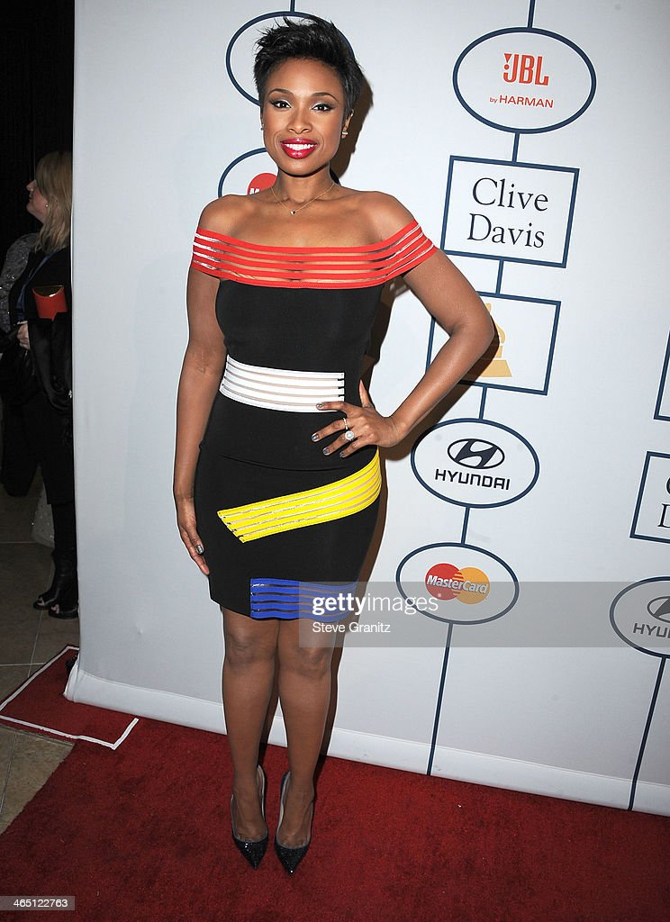 <a gi-track='captionPersonalityLinkClicked' href=/galleries/search?phrase=Jennifer+Hudson&family=editorial&specificpeople=234833 ng-click='$event.stopPropagation()'>Jennifer Hudson</a> arrives at the Clive Davis And The Recording Academy Annual Pre-GRAMMY Gala at The Beverly Hilton Hotel on January 25, 2014 in Beverly Hills, California.