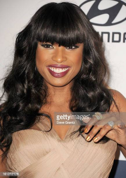 Jennifer Hudson arrives at the The 55th Annual GRAMMY Awards PreGRAMMY Gala And Salute To Industry Icons Honoring LA Reid on February 9 2013 in Los...