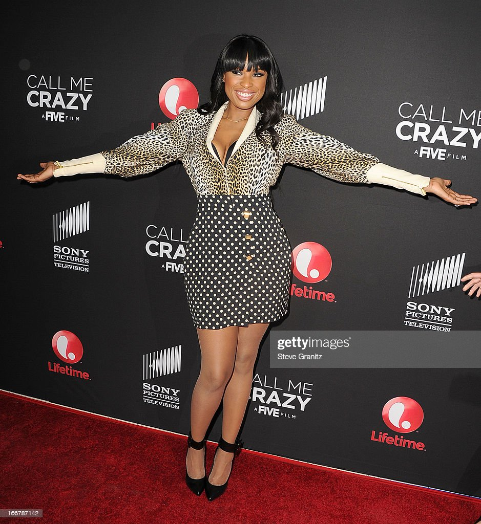 <a gi-track='captionPersonalityLinkClicked' href=/galleries/search?phrase=Jennifer+Hudson&family=editorial&specificpeople=234833 ng-click='$event.stopPropagation()'>Jennifer Hudson</a> arrives at the World Premiere Of The Lifetime Original Movie Event 'Call Me Crazy: A Five Film' at Pacific Design Center on April 16, 2013 in West Hollywood, California.