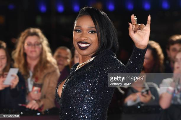 Jennifer Hudson arrives during The Voice UK 2018 launch photocall at Media City on October 17 2017 in Manchester England