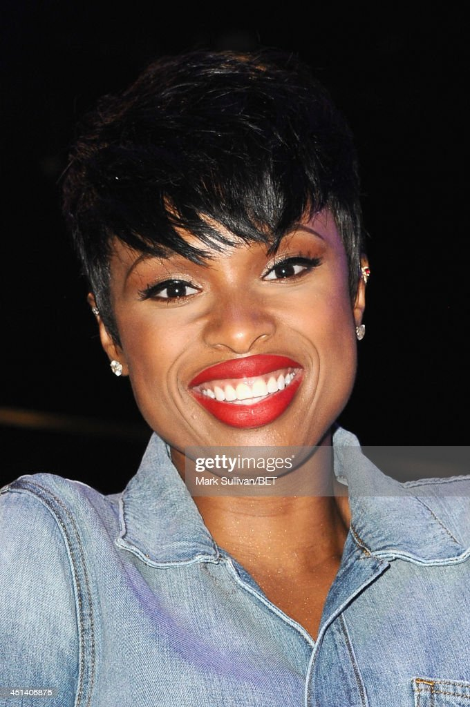 <a gi-track='captionPersonalityLinkClicked' href=/galleries/search?phrase=Jennifer+Hudson&family=editorial&specificpeople=234833 ng-click='$event.stopPropagation()'>Jennifer Hudson</a> attends Fan Fest BET and Centric Pavilion - Day 1 during the 2014 BET Experience at L.A. LIVE on June 28, 2014 in Los Angeles, California.