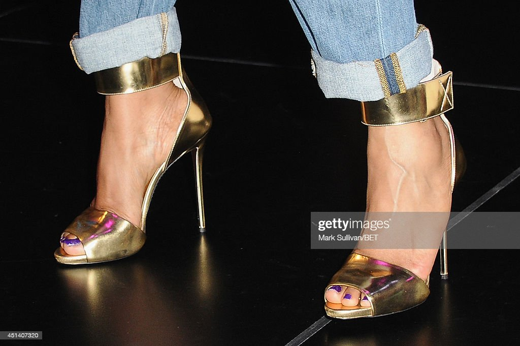 Jennifer Hudson (shoe detail) attends Fan Fest BET and Centric Pavilion - Day 1 during the 2014 BET Experience at L.A. LIVE on June 28, 2014 in Los Angeles, California.