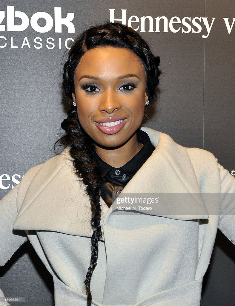 <a gi-track='captionPersonalityLinkClicked' href=/galleries/search?phrase=Jennifer+Hudson&family=editorial&specificpeople=234833 ng-click='$event.stopPropagation()'>Jennifer Hudson</a> attends Hennessy VS Presents 'The Inevitable Defeat of Mister and Pete' sponsored by Reebok and Blackberry at the Julie Nester Gallery on January 17, 2013 in Park City, Utah.