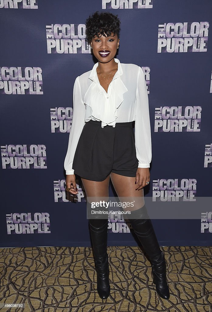 <a gi-track='captionPersonalityLinkClicked' href=/galleries/search?phrase=Jennifer+Hudson&family=editorial&specificpeople=234833 ng-click='$event.stopPropagation()'>Jennifer Hudson</a> attends 'The Color Purple' Broadway Cast Photo Call at Intercontinental Hotel on November 20, 2015 in New York City.