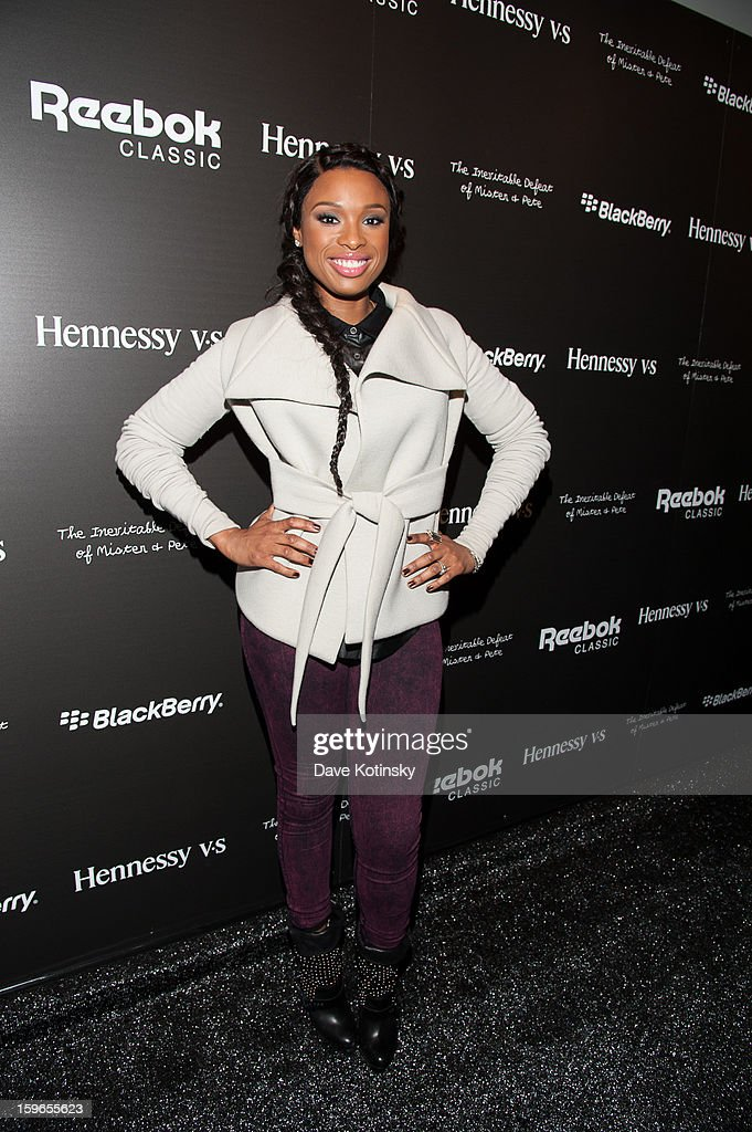 <a gi-track='captionPersonalityLinkClicked' href=/galleries/search?phrase=Jennifer+Hudson&family=editorial&specificpeople=234833 ng-click='$event.stopPropagation()'>Jennifer Hudson</a> attends the Hennessy VS Presents 'The Inevitable Defeat of Mister and Pete' sponsored by Reebok and Blackberry at the Julie Nester Gallery on January 17, 2013 in Park City, Utah.