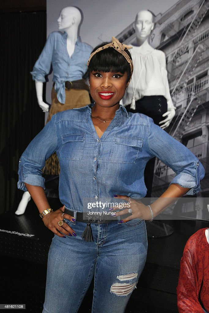 Jennifer Hudson attends the #SohoJeansSingOff hosted by New York & Company with Jennifer Hudson at Marquee on July 22, 2015 in New York City.