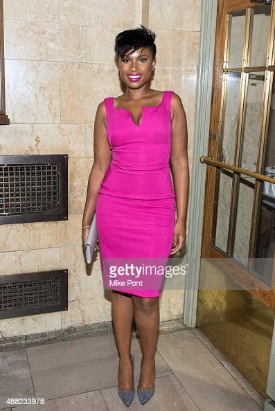 Jennifer Hudson attends the Zac Posen Spring 2016 fashion show during New York Fashion Week at Vanderbilt Hall at Grand Central Terminal on September...
