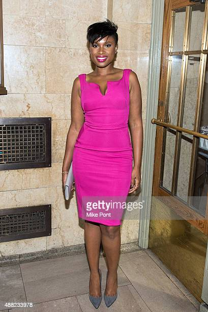 Jennifer Hudson attends the Zac Posen Spring 2016 fashion show during New York Fashion Week at Vanderbilt Hall at Grand Central Terminal on September...