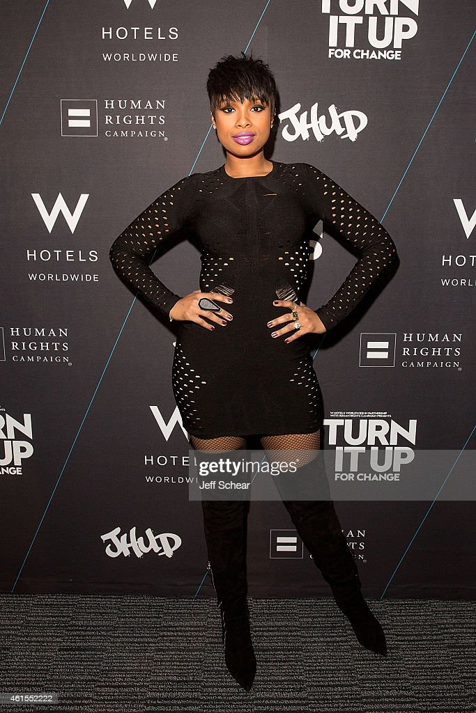 <a gi-track='captionPersonalityLinkClicked' href=/galleries/search?phrase=Jennifer+Hudson&family=editorial&specificpeople=234833 ng-click='$event.stopPropagation()'>Jennifer Hudson</a> attends W Hotels and <a gi-track='captionPersonalityLinkClicked' href=/galleries/search?phrase=Jennifer+Hudson&family=editorial&specificpeople=234833 ng-click='$event.stopPropagation()'>Jennifer Hudson</a> Turn It Up For Change to Benefit HRC at W Chicago-Lakeshore on January 15, 2015 in Chicago, Illinois.