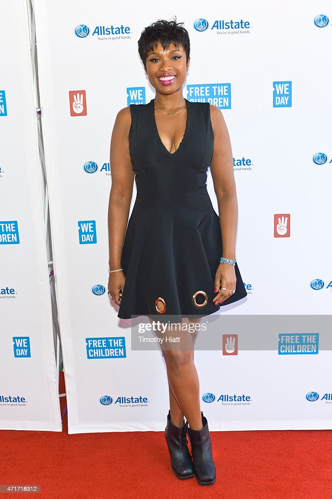<a gi-track='captionPersonalityLinkClicked' href=/galleries/search?phrase=Jennifer+Hudson&family=editorial&specificpeople=234833 ng-click='$event.stopPropagation()'>Jennifer Hudson</a> attends We Day at Allstate Arena on April 30, 2015 in Rosemont, Illinois.