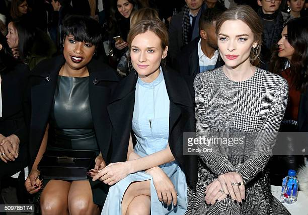 Jennifer Hudson Diane Kruger and Jaime King attend the Jason Wu Fall 2016 fashion show during New York Fashion Week at Spring Studios on February 12...