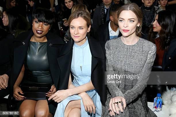 Jennifer Hudson Diane Kruger and Jaime King attend the Jason Wu Fall 2016 fashion show during New York Fashion Week at Spring Studios on February 12...