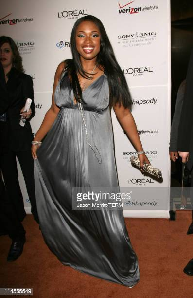 Jennifer Hudson during 2007 Clive Davis PreGRAMMY Awards Party Arrivals at Beverly Hilton Hotel in Beverly Hills California United States