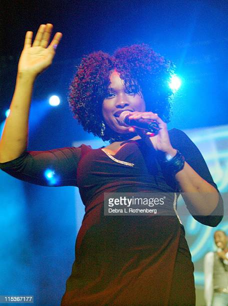 Jennifer Hudson during 'American Idol 5' Live In Concert August 29 2004 at Continental Arena in East Rutherford New Jersey United States