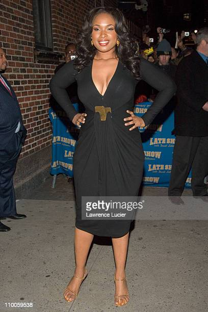 Jennifer Hudson during Jennifer Hudson and David Arquette Visit The Late Show with David Letterman January 8 2007 at Ed Sullivan Theater in New York...