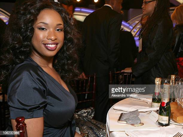 Jennifer Hudson during Moet Chandon Inside Ballroom at the 64th Annual Golden Globe Awards at Beverly Hilton in Beverly Hills California United States