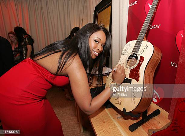 Jennifer Hudson during The 49th Annual GRAMMY Awards MusiCares Signings Day 4 at Staples Center in Los Angeles California United States