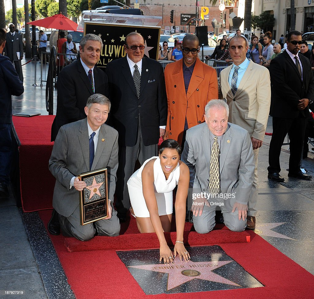 <a gi-track='captionPersonalityLinkClicked' href=/galleries/search?phrase=Jennifer+Hudson&family=editorial&specificpeople=234833 ng-click='$event.stopPropagation()'>Jennifer Hudson</a> Honored On The Hollywood Walk Of Fame on November 13, 2013 in Hollywood, California.