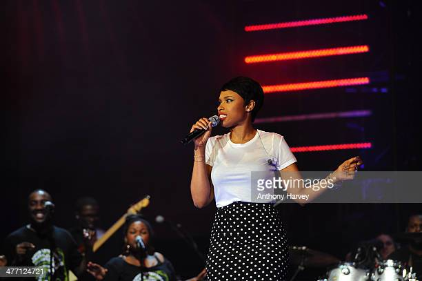 Jennifer Hudson performs as Free The Children hosts their debut UK global youth empowerment event We Day at Wembley Arena on March 7 2014 in London...