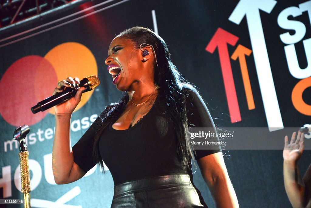 Jennifer Hudson performs at SU2C at The Masterpass House at the W South Beach on July 8, 2017 in Miami Beach, Florida.