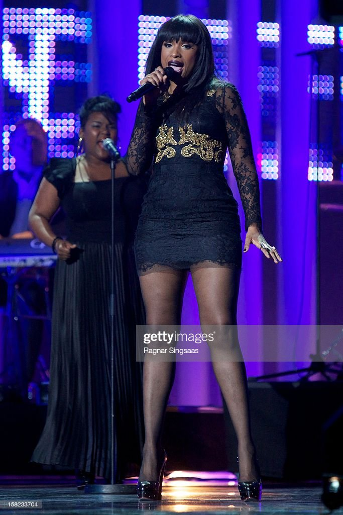 Jennifer Hudson performs at the Nobel Peace Prize Concert at Oslo Spektrum on December 11, 2012 in Oslo, Norway.