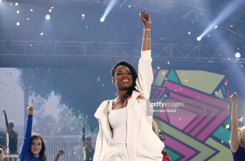 Jennifer Hudson performs onstage during the XQ Super School Live, presented by EIF, at Barker Hangar on September 8, 2017 in Santa California.