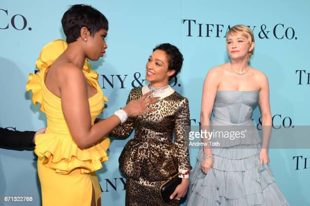 Jennifer Hudson Ruth Negga and Haley Bennett attend Tiffany Co 2017 Blue Book Collection Gala at St Ann's Warehouse on April 21 2017 in New York City