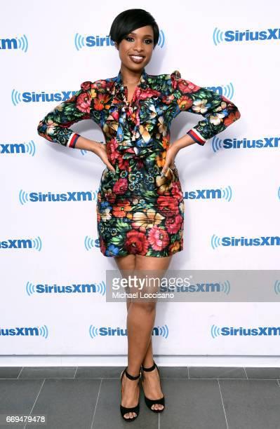 Jennifer Hudson visits SiriusXM at SiriusXM Studios on April 17 2017 in New York City