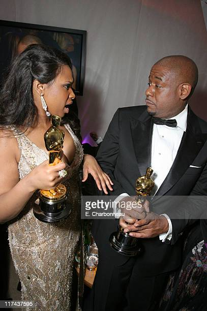 Jennifer Hudson winner Best Actress in a Supporting Role for 'Dreamgirls' and Forest Whitaker winner Best Actor in a Leading Role for 'The Last King...
