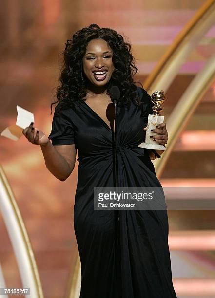 Jennifer Hudson winner Best Performance by an Actress in a Supporting Role in a Motion Picture for 'Dreamgirls' during 64th Annual Golden Globes Show...