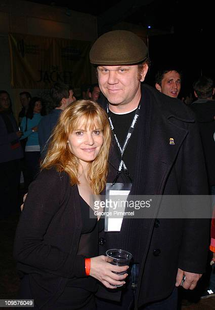 Jennifer Jason Leigh and John C Reilly during 2005 Sundance Film Festival 'The Jacket' Premiere After Party at Yoga Studio in Park City Utah United...