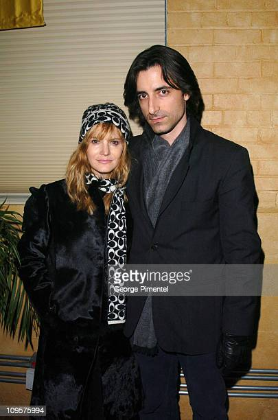 Jennifer Jason Leigh and Noah Baumbach during 2005 Sundance Film Festival 'The Jacket' Premiere After Party at Yoga Studio in Park City Utah United...
