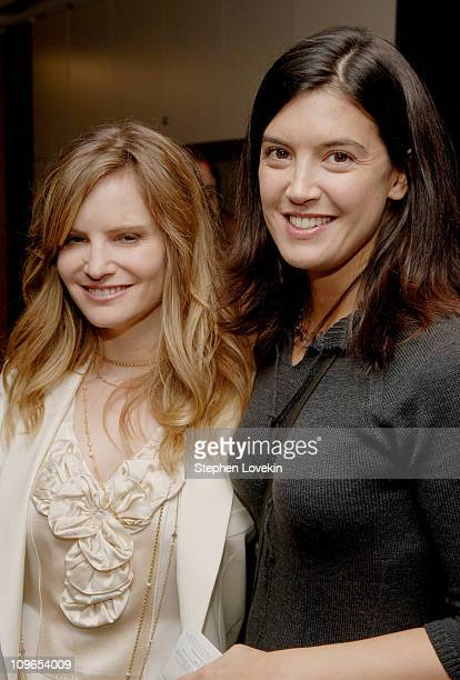 Jennifer Jason Leigh and Phoebe Cates during New York Film Festival Premiere of 'The Squid and The Whale' Inside Arrivals at Alice Tulley Hall...