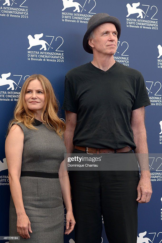 Jennifer Jason Leigh and Tom Noonan attend a photocall for 'Anomalisa' during the 72nd Venice Film Festival at Palazzo del Casino on September 8, 2015 in Venice, Italy.