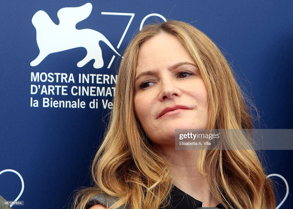Jennifer Jason Leigh attends a photocall for 'Anomalisa' during the 72nd Venice Film Festival at Palazzo del Casino on September 8, 2015 in Venice, Italy.
