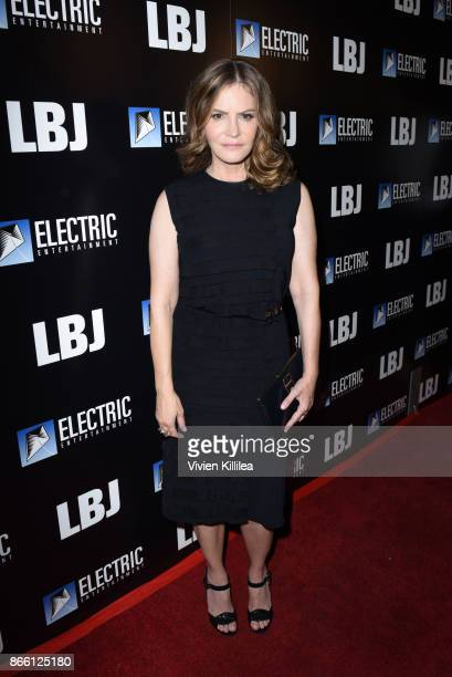 Jennifer Jason Leigh attends the Los Angeles Premiere of LBJ at ArcLight Hollywood on October 24 2017 in Hollywood California