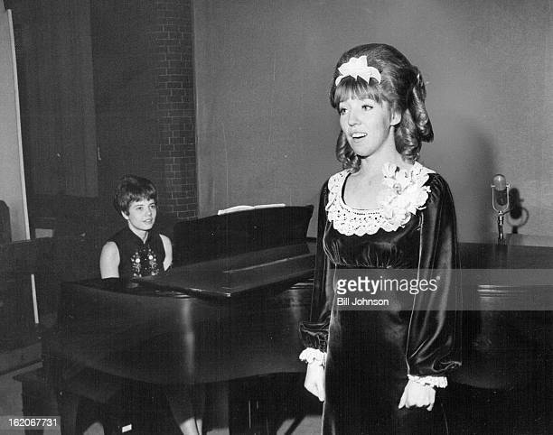 JAN 23 1969 JAN 29 1969 Jennifer Johnson 2691 S Yarrow St junior ot the University of Denver is shown as she sang in a recital presented by the...
