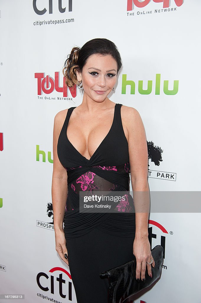 Jennifer 'JWoww' Farley attends the 'All My Children' & 'One Life To Live' premiere at Jack H. Skirball Center for the Performing Arts on April 23, 2013 in New York City.