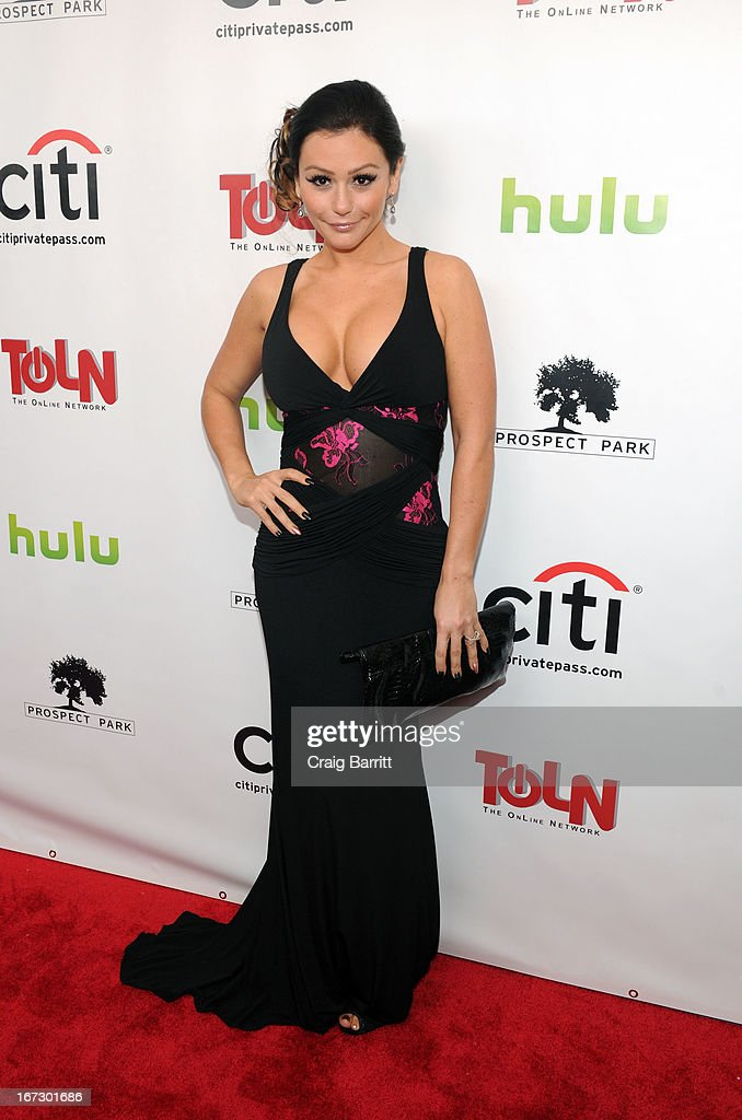 Jennifer 'JWoww' Farley attends the 'All My Children' 'One Life To Live' premiere at Jack H Skirball Center for the Performing Arts on April 23 2013...