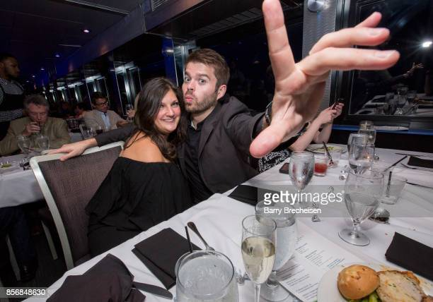Jennifer Karum and Brian Barber at the 'Conrad' series party on the Spirit of Chicago boat event showcasing the new crime drama that focuses on women...
