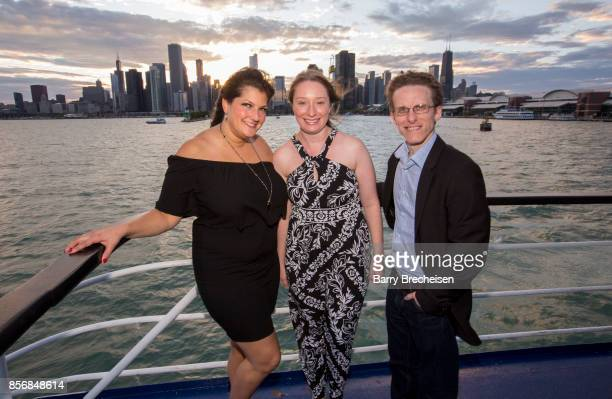 Jennifer Karum Ryan Atkins and Jessica Hebda Lawson the 'Conrad' series party on the Spirit of Chicago boat event showcasing the new crime drama that...