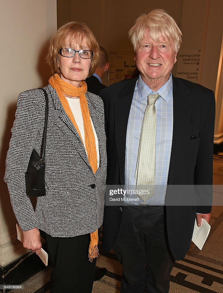 Jennifer Kidd and Stanley Johnson attend a celebration of the Life of Lord George Weidenfeld on June 26, 2016 in London, England.