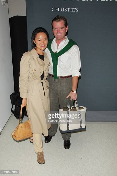 Jennifer Kim and Jack Yeaton attend CHRISTIE'S and ALBERTA FERRETTI host viewing of PONAHALO DIAMONDS at Haunch of Venison GalleryNYC on September 23...