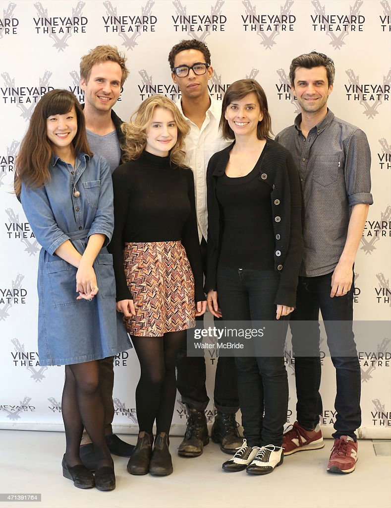 Jennifer Kim Ryan Spahn Catherine Combs Kyle Beltran Jeanine Serralles and Michael Crane during the photo call for the Vineyard Theatre production of...