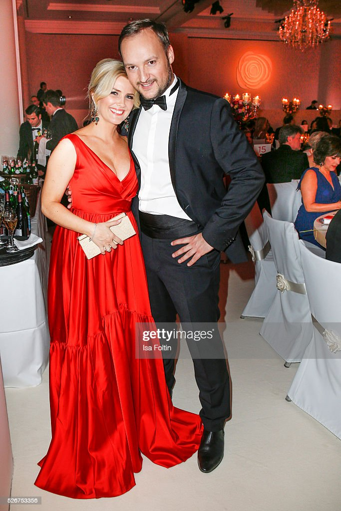 Jennifer Knaeble and Felix Moese attend the Rosenball 2016 on April 30, 2016 in Berlin, Germany.