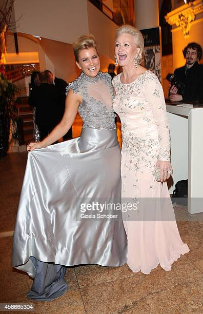 Jennifer Knaeble and Marika Kilius during the 33 Deutscher Sportpresseball German Sports Media Ball 2014 at Alte Oper on November 08 2014 in...